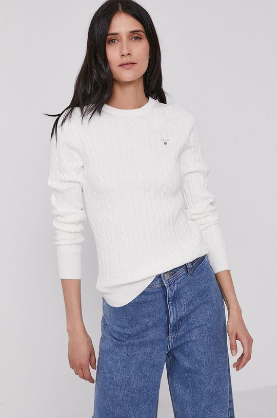 biały Gant - Sweter Damski