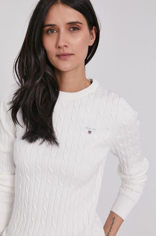 biały Gant - Sweter