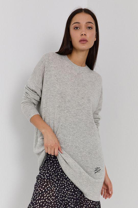 svetlosivá Karl Lagerfeld - Vlnený sveter Dámsky