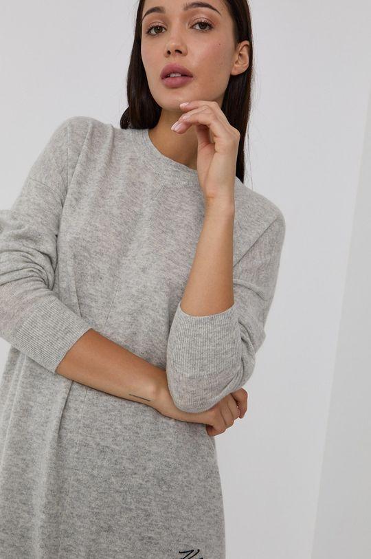 svetlosivá Karl Lagerfeld - Vlnený sveter