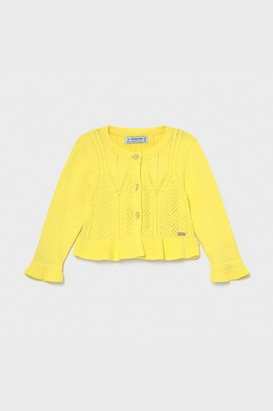 žltá Mayoral - Detský sveter Dievčenský
