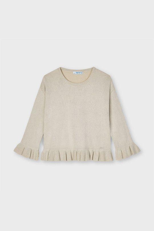 beżowy Mayoral - Sweter dziecięcy Dziewczęcy