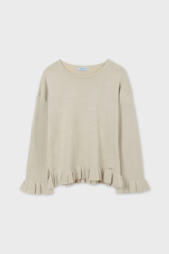 piaskowy Mayoral - Sweter dziecięcy Dziewczęcy