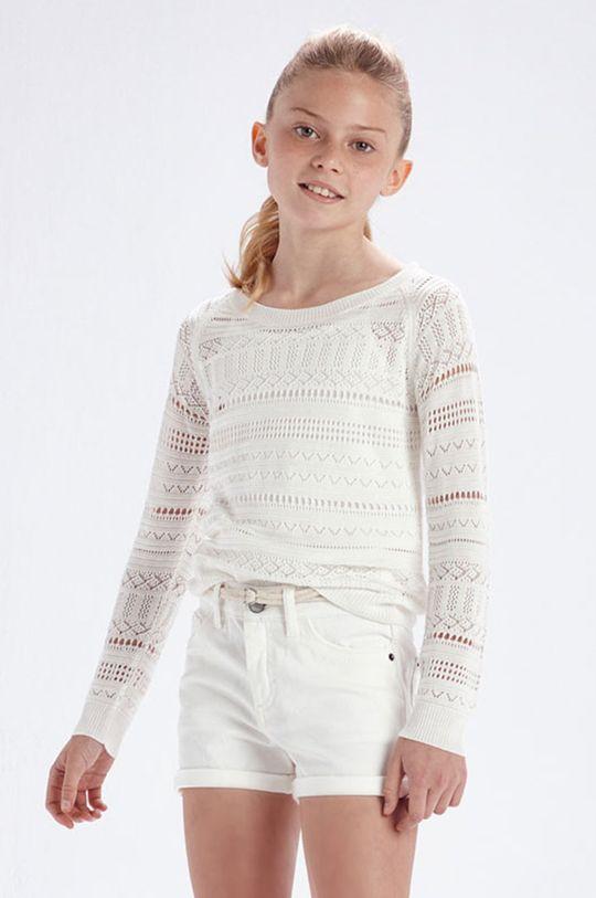 kremowy Mayoral - Sweter dziecięcy Dziewczęcy