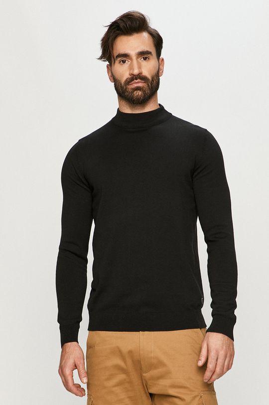 czarny Premium by Jack&Jones - Sweter Męski