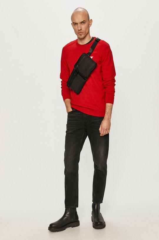 Guess - Sweter czerwony