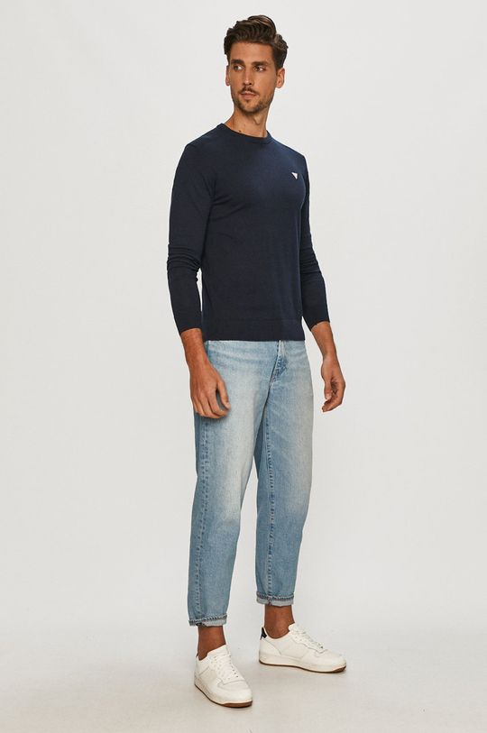 Guess - Sweter granatowy