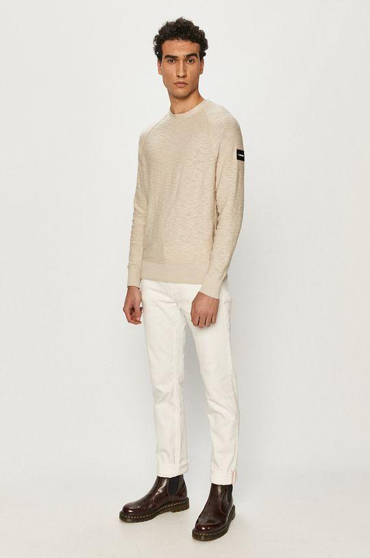 Calvin Klein - Sweter piaskowy