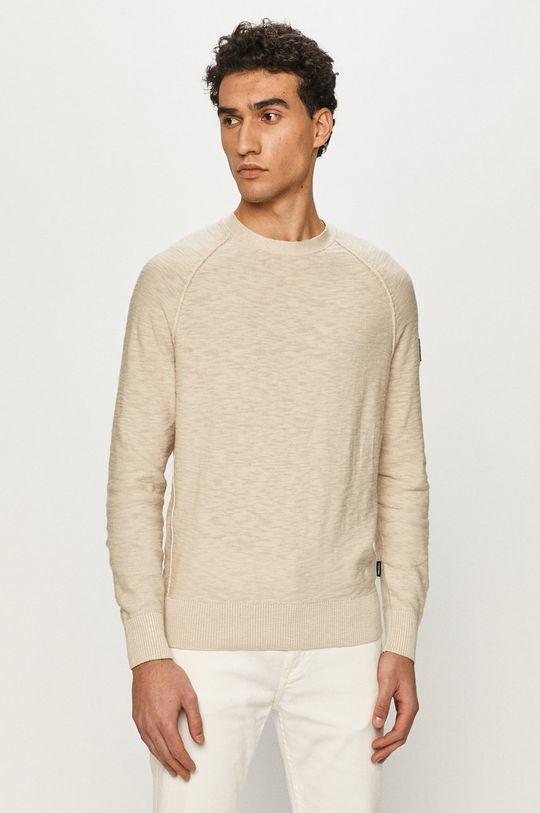 piaskowy Calvin Klein - Sweter