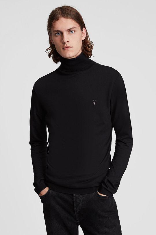czarny AllSaints - Sweter Męski