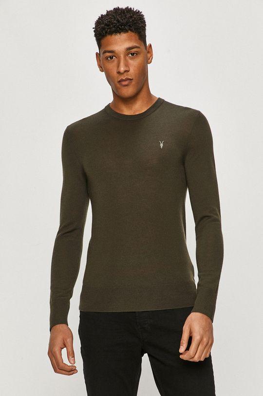 zielony AllSaints - Sweter Męski