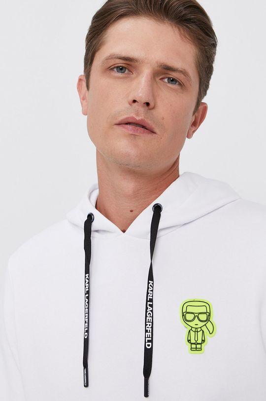 biały Karl Lagerfeld - Bluza Męski