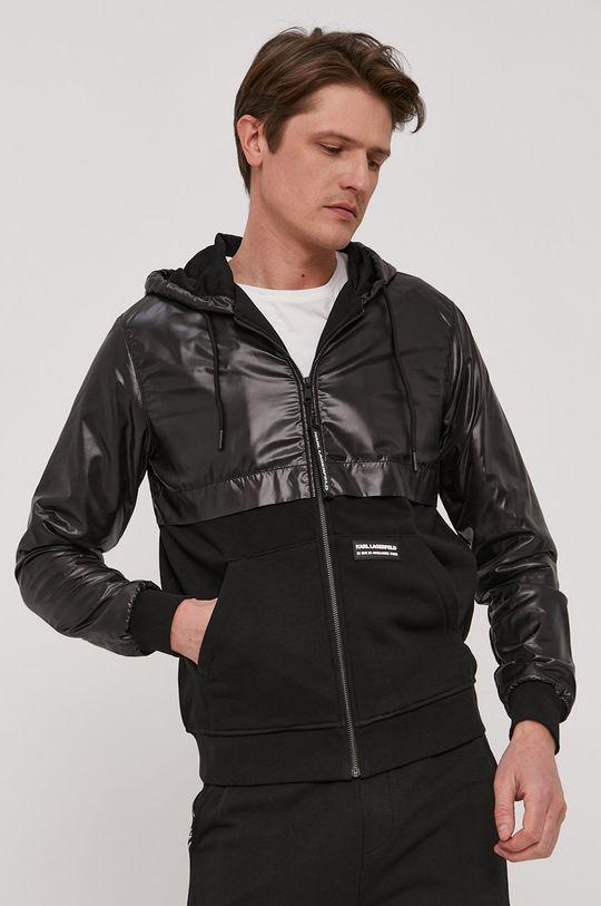 czarny Karl Lagerfeld - Bluza Męski
