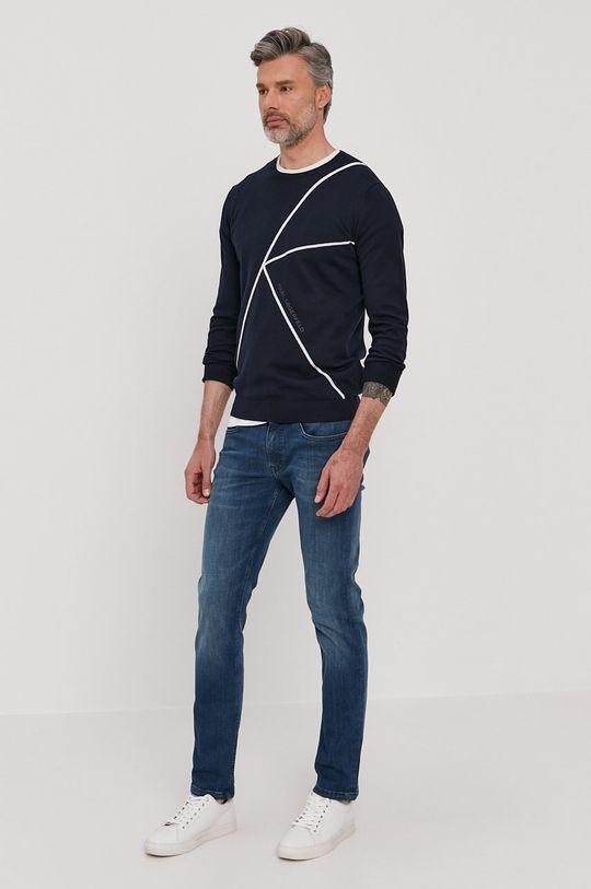 Karl Lagerfeld - Sweter granatowy