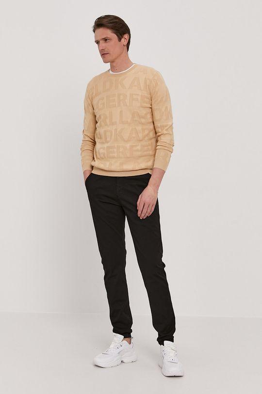 Karl Lagerfeld - Sweter piaskowy