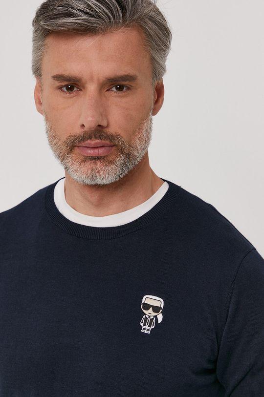 granatowy Karl Lagerfeld - Sweter