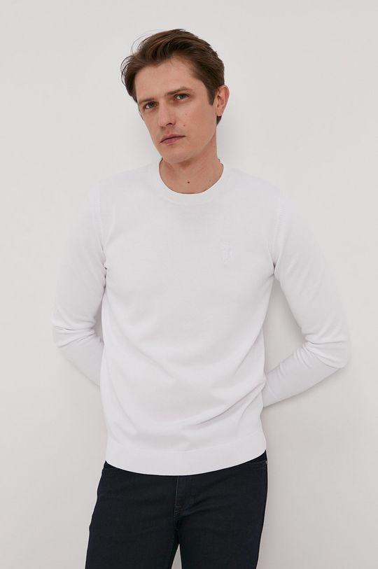 biały Karl Lagerfeld - Sweter Męski