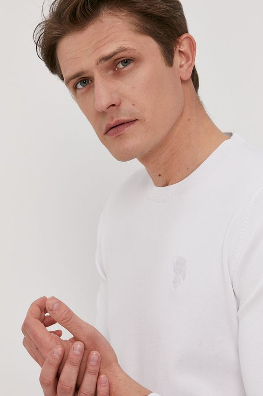 biały Karl Lagerfeld - Sweter
