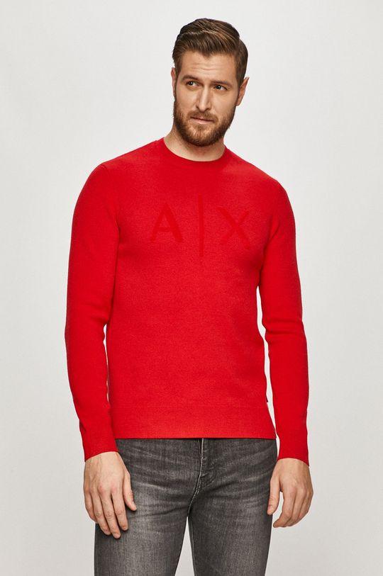 czerwony Armani Exchange - Sweter Męski