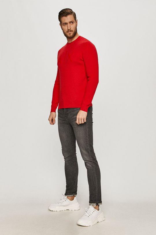 Armani Exchange - Sweter czerwony