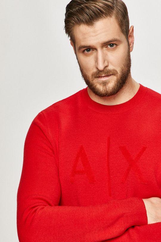 czerwony Armani Exchange - Sweter