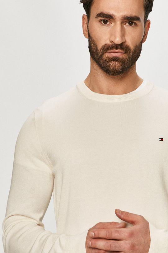 kremowy Tommy Hilfiger - Sweter