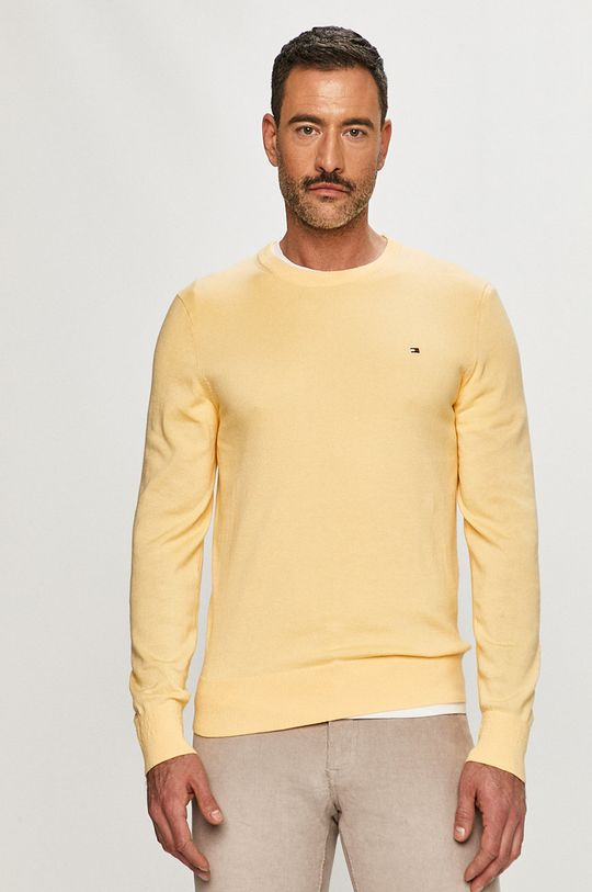 żółty Tommy Hilfiger - Sweter Męski