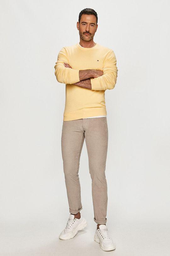 Tommy Hilfiger - Sweter żółty