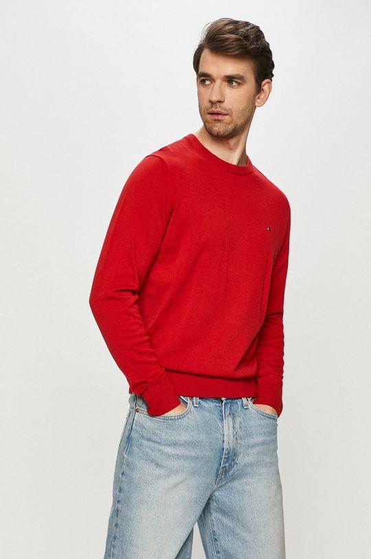 czerwony Tommy Hilfiger - Sweter Męski