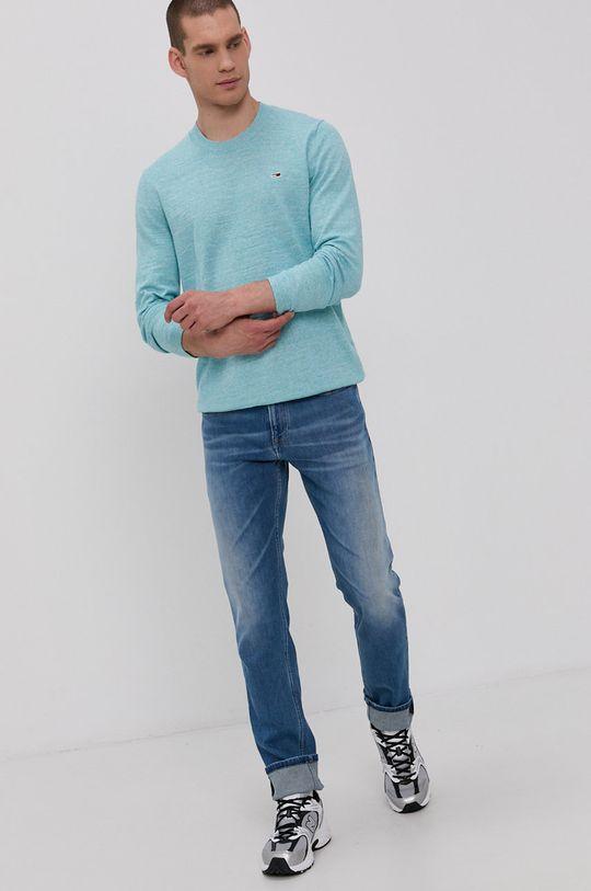 Tommy Jeans - Pulover turcoaz deschis