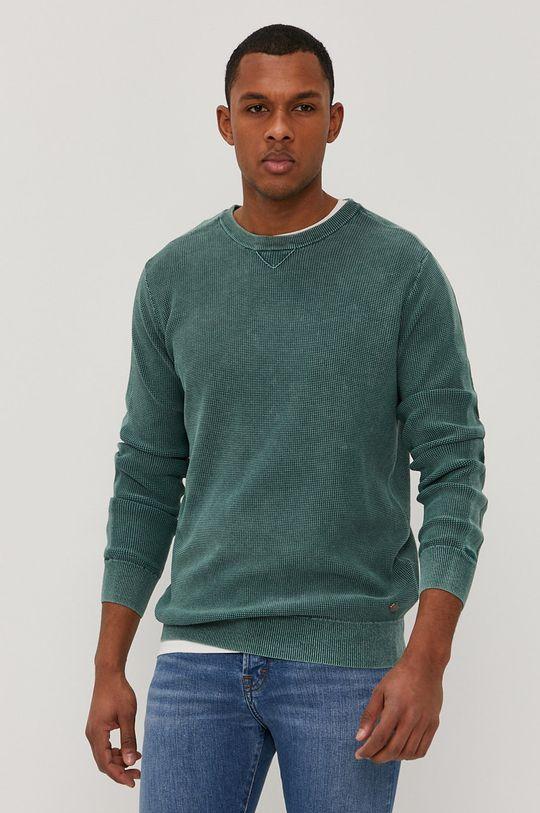 ciemny zielony Mustang - Sweter Męski