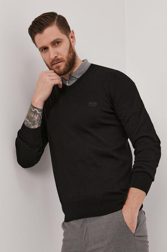 czarny Boss - Sweter Męski