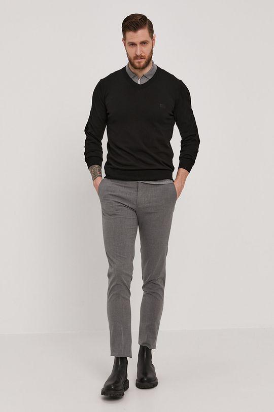 Boss - Sweter czarny