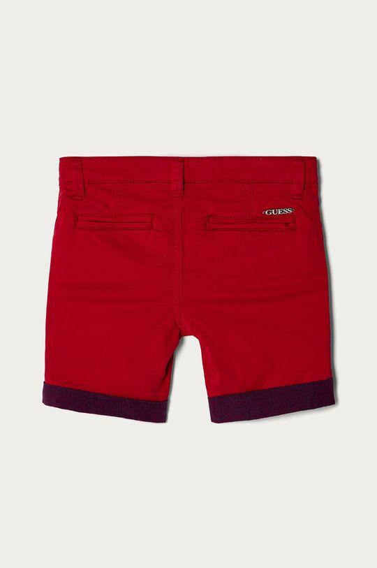 Guess - Pantaloni scurti copii 92-122 cm rosu