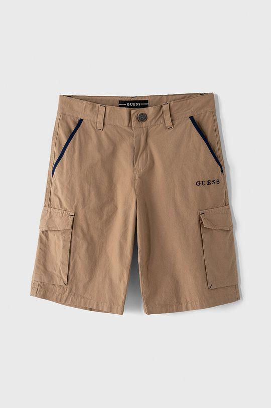 zlatohnedá Guess - Detské krátke nohavice 116-175 cm Chlapčenský