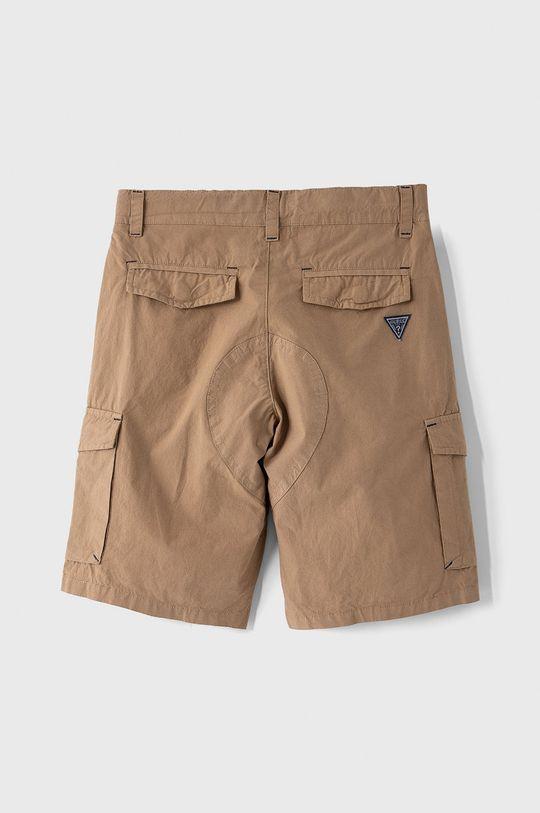 Guess - Detské krátke nohavice 116-175 cm zlatohnedá