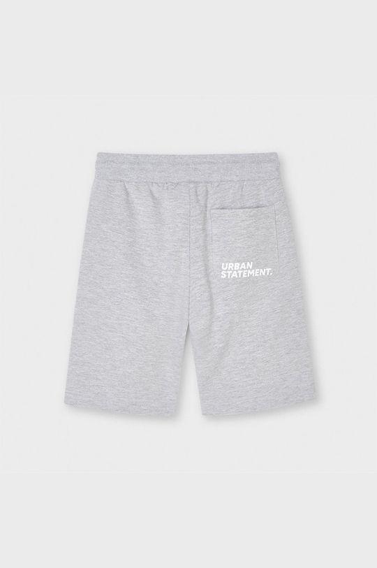Mayoral - Detské krátke nohavice svetlosivá