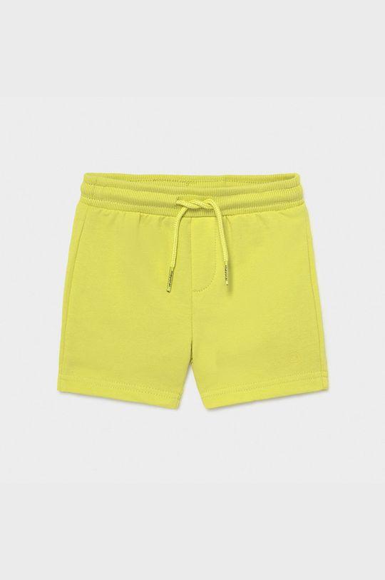 horčicová Mayoral - Detské krátke nohavice Chlapčenský