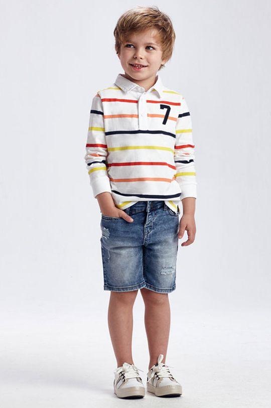 červenofialový Mayoral - Detské rifľové krátke nohavice Chlapčenský
