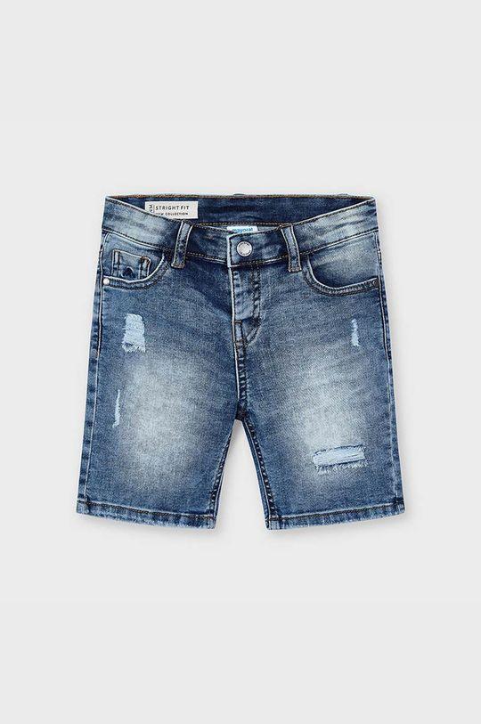 Mayoral - Detské rifľové krátke nohavice červenofialový