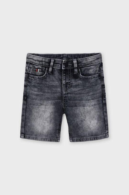 Mayoral - Detské krátke nohavice sivá