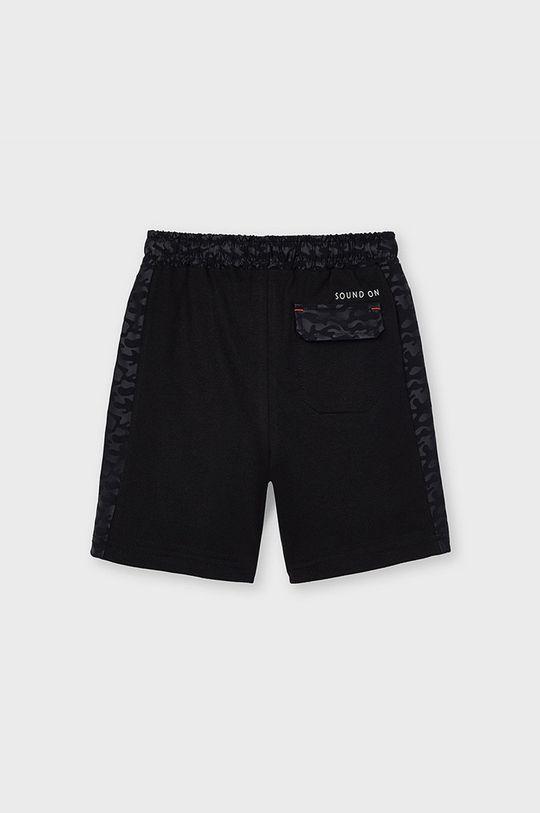 Mayoral - Detské krátke nohavice čierna