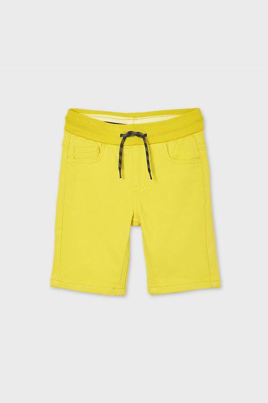 Mayoral - Detské krátke nohavice žltá