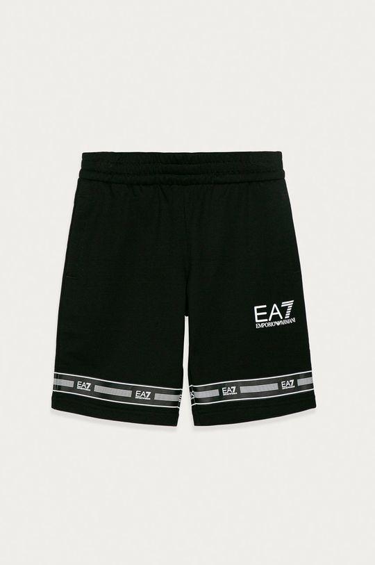 čierna EA7 Emporio Armani - Detské krátke nohavice 104-164 cm Chlapčenský