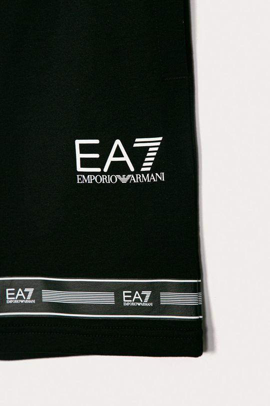 EA7 Emporio Armani - Detské krátke nohavice 104-164 cm čierna