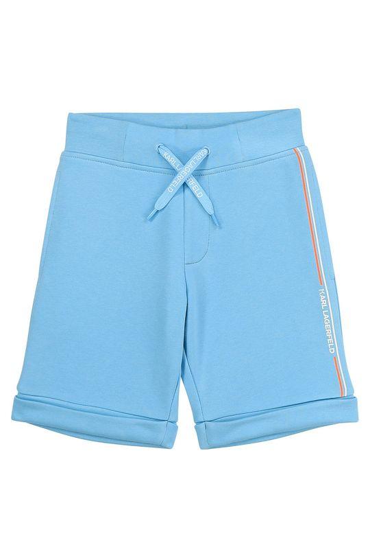 Karl Lagerfeld - Pantaloni scurti copii albastru deschis