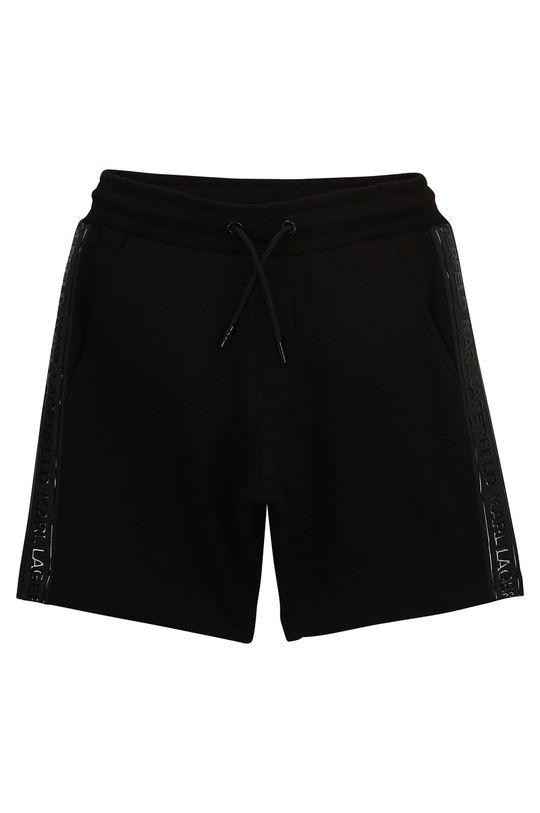 čierna Karl Lagerfeld - Detské krátke nohavice Chlapčenský