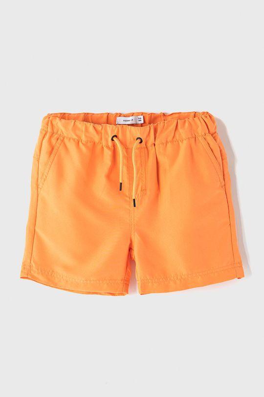 oranžová Name it - Dětské plavkové šortky 128-164 cm Chlapecký