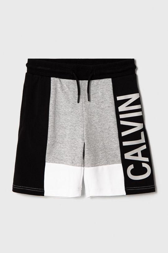 světle šedá Calvin Klein Jeans - Dětské kraťasy 116-176 cm. Chlapecký