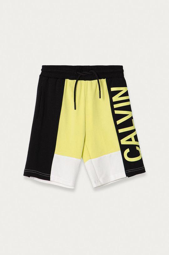jasně žlutá Calvin Klein Jeans - Dětské kraťasy 116-176 cm. Chlapecký